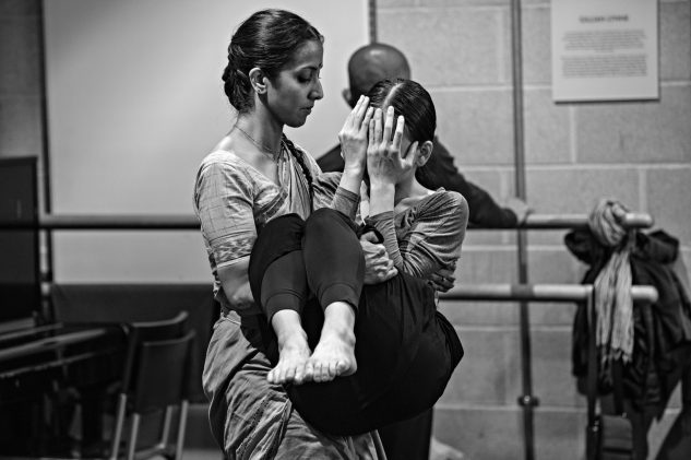 'No false gods now, the images o'ercast, We are love's body, or we are undone' (Nan Shepherd, 'Real Presence') Mythili Prakash and Ching-Ying Chien in rehearsals for Outwitting the Devil. On stage now at Théâtre la Louviére, and meeting for the first time the beautiful possibilities of the set and lighting by Tom Scutt and Aideen Malone. Astonishing music, again, by Vincenzo Lamagna. Also ordering emergency Indian food from a nearby town for the eternally vigilant rehearsal director Mavin Khoo -   Ruth Little