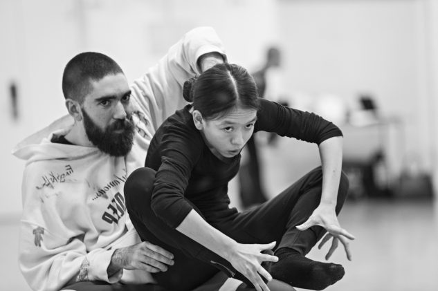 'I will not beg the world leaders to care for our future. I will instead let them know change is coming whether they like it or not.' (Greta Thunberg)  Sam Pratt and Ching-Ying Chien in rehearsal  - Ruth Little