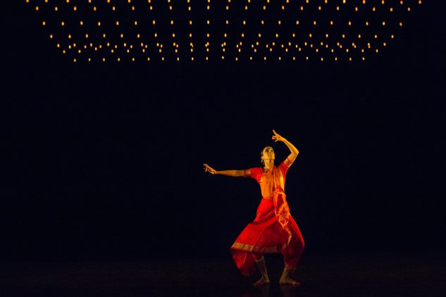 Mythili Prakash dances a bharatanatyam / bharatnatyam Indian classical dance piece from South India at Darbar Festival 2017 at Sadler's Wells London